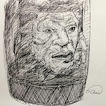 Face of Boe Sketch - Pen